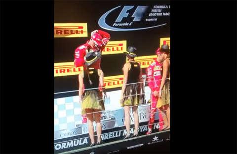 Fuoriprogramma sul podio della Formula 1
