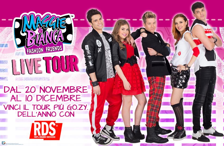 Maggie & Bianca Tour - vinci con RDS