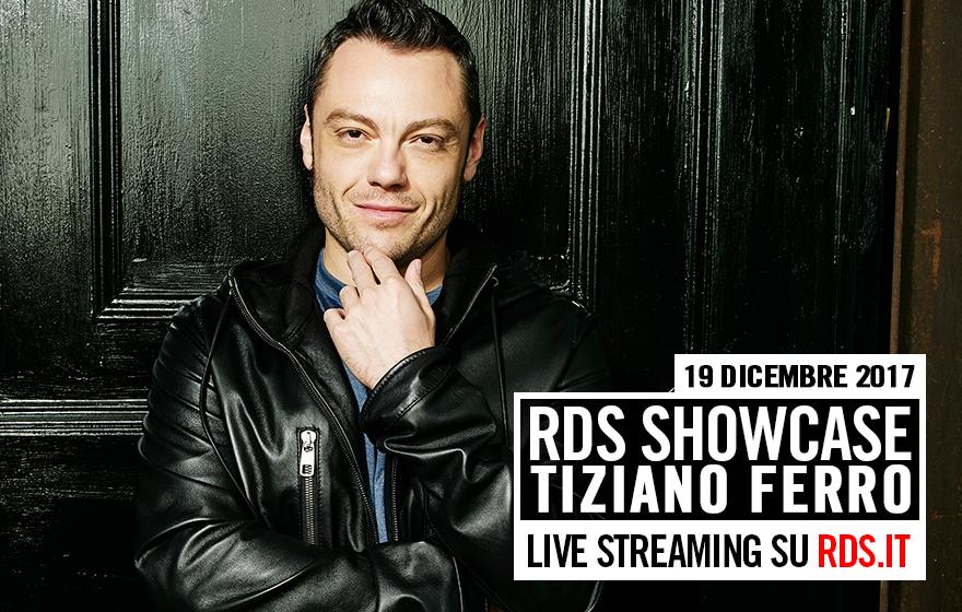 RDS Showcase Tiziano Ferro, in diretta streaming su RDS.it
