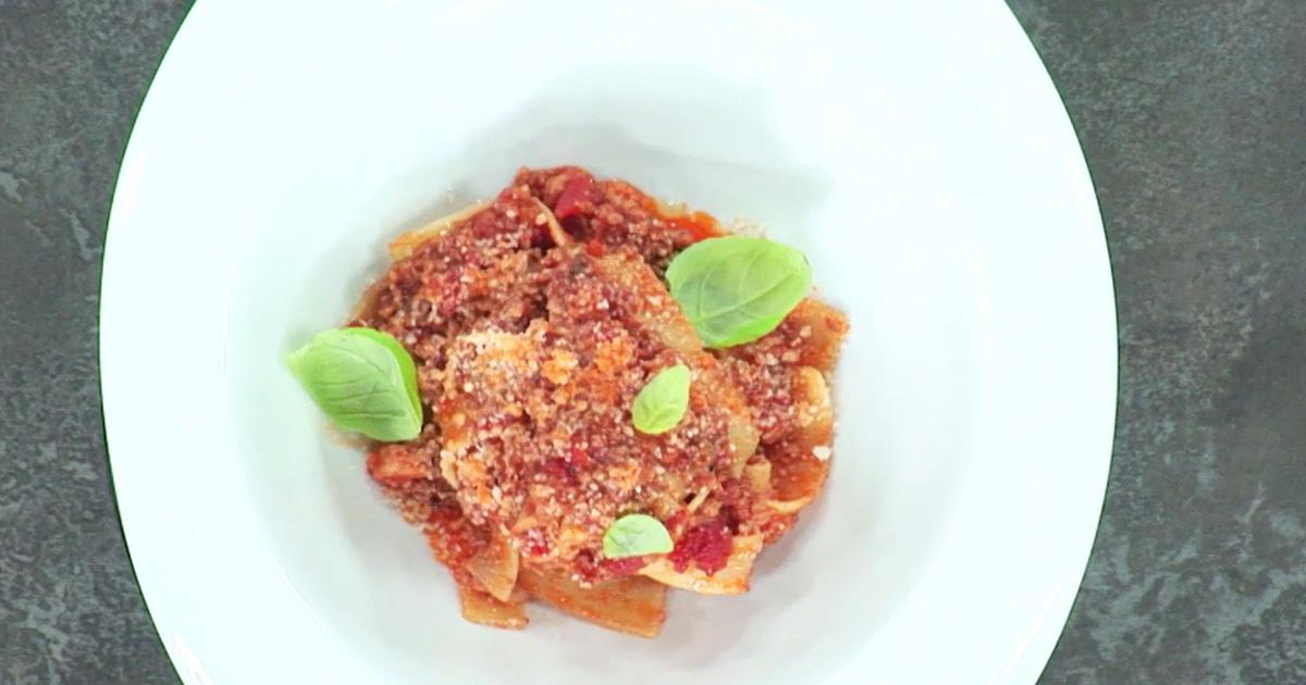 Pappardelle con ragù di punta di vitella - Alessandro Borghese Kitchen Sound Choice