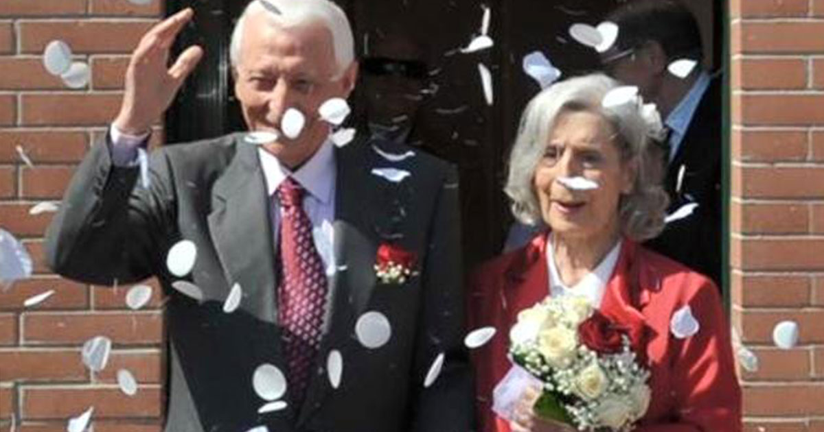 Si sposano a 90 anni, l'amore non ha età