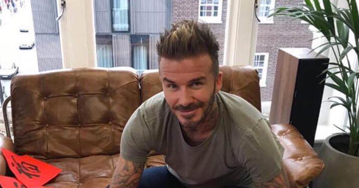 David Beckham fa il compleanno, a sorpresa arriva il figlio