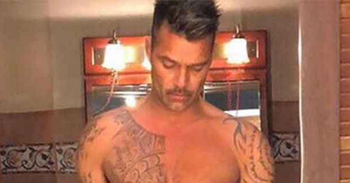 Ricky Martin sfoggia i muscoli su Instagram