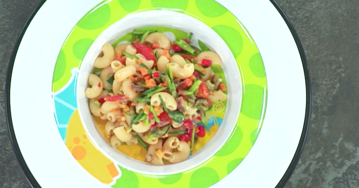 Chiffero Gluten Free al sugo di verdure - Alessandro Borghese Kitchen Sound Kids