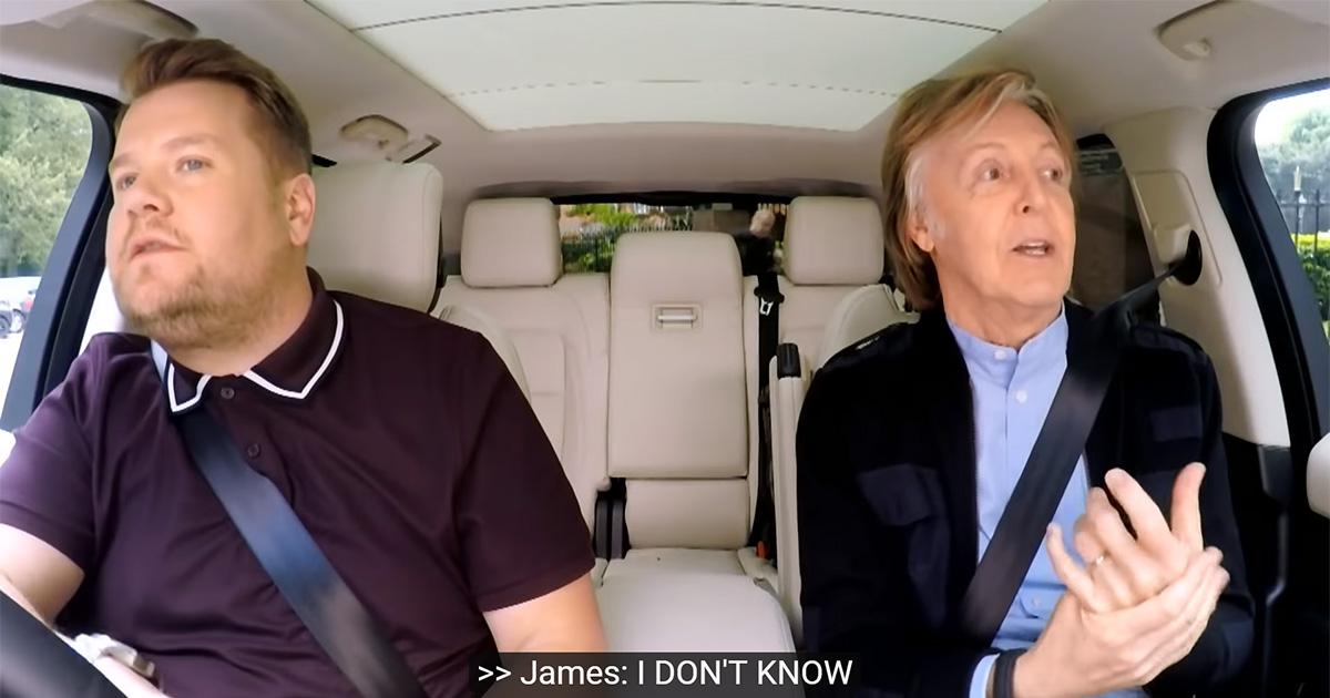 Perché il Carpool Karaoke con Paul McCartney è stata l'intervista perfetta