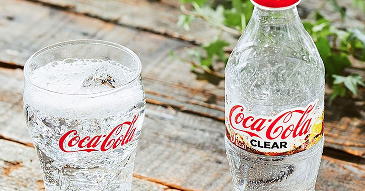 Dal Giappone la novità: ecco la Coca-Cola trasparente