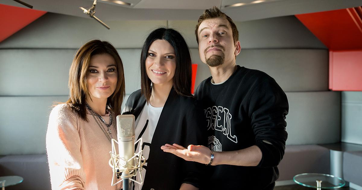Laura Pausini! Eccola con Roberta Lanfranchi e Claudio Guerrini
