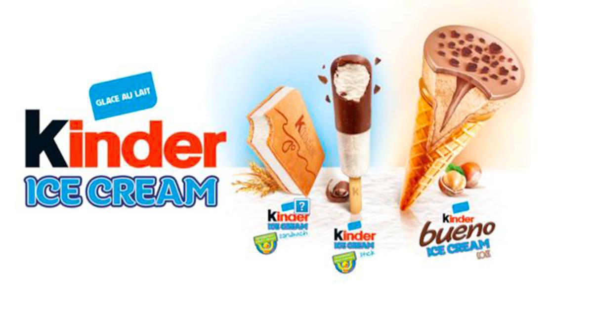 Ecco quali sono i gelati Kinder che arriveranno anche in Italia