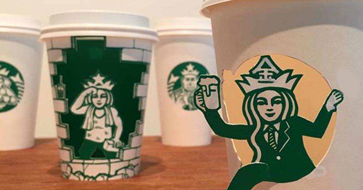Come trasformare i bicchieri di Starbucks in opere d'arte