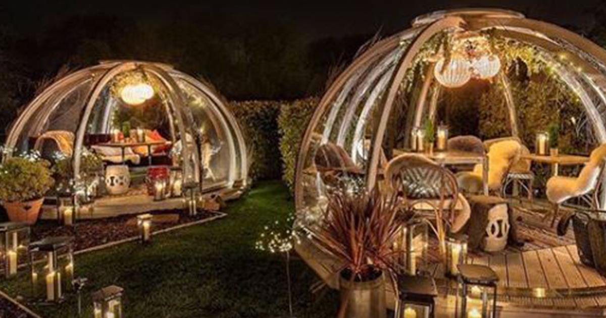 Londra: la cena romantica nella bolla riscaldata diventa un successo