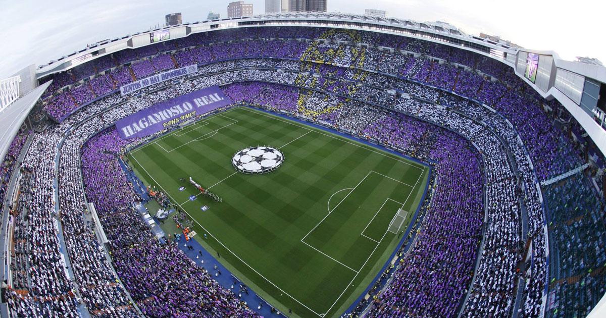 Nei bagni dello stadio del Real Madrid sarà installato un tablet su ogni orinatoio