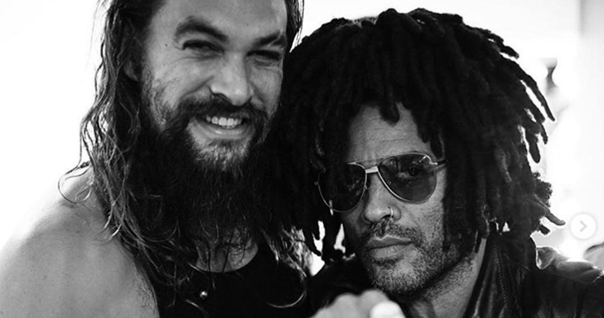 Fare pace con gli ex: Jason Momoa e Lenny Kravitz sono super amici