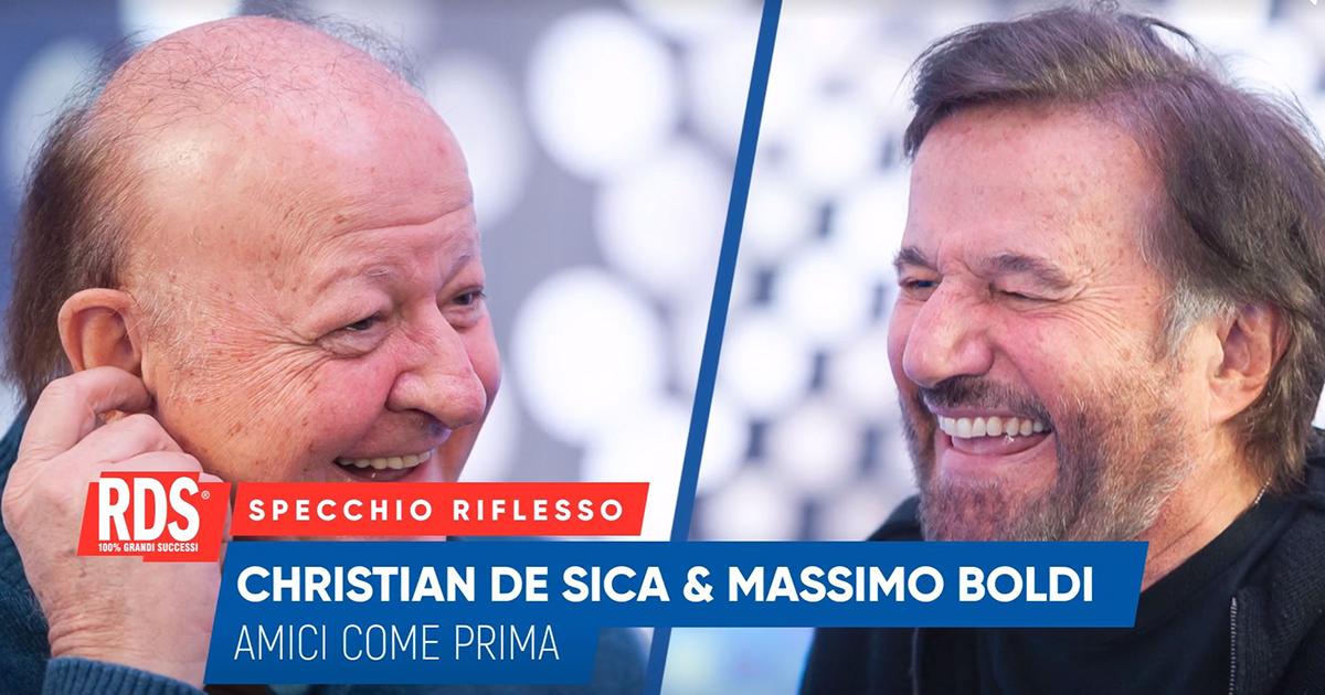 Christian De Sica e Massimo Boldi a confronto nello Specchio Riflesso di RDS