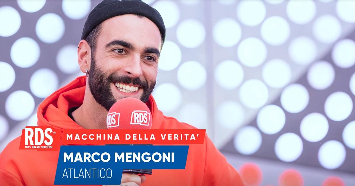 Marco Mengoni risponde alle domande della Macchina Della Verità di RDS