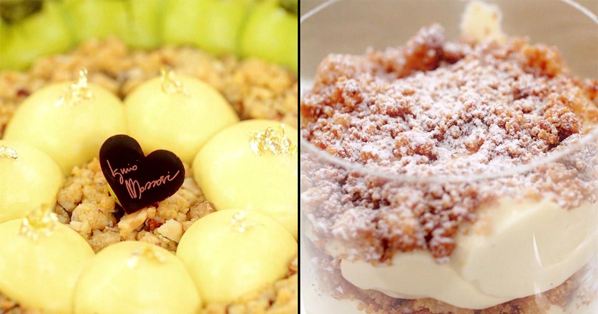 Sbrisolona con crema chantilly allo zabaione - Iginio Massari The Sweetman