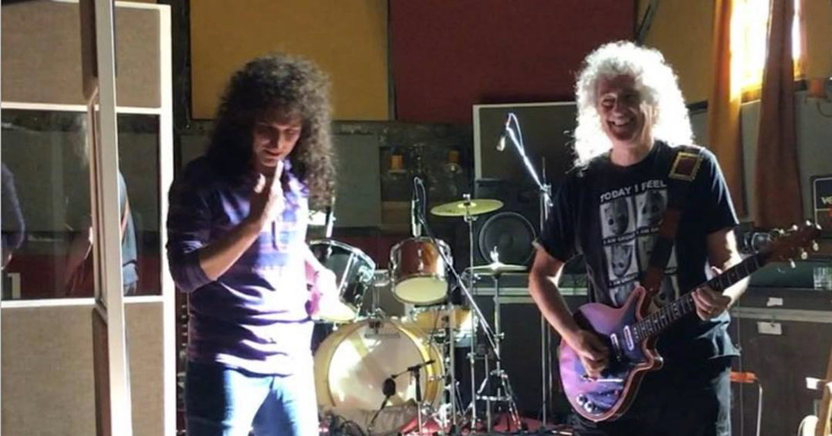 Brian May: il video dove suona l'assolo di Bohemian Rhapsody sul set del film