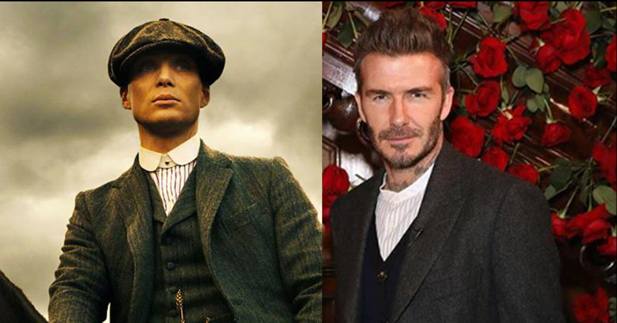 David Beckham ha lanciato una linea di vestiti ispirata alla serie tv Peaky Blinders