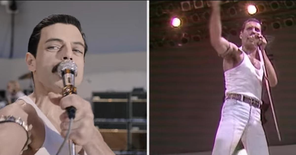 Bohemian Rhapsody: il video che mette a confronto l'esibizione dei Queen con quella del film