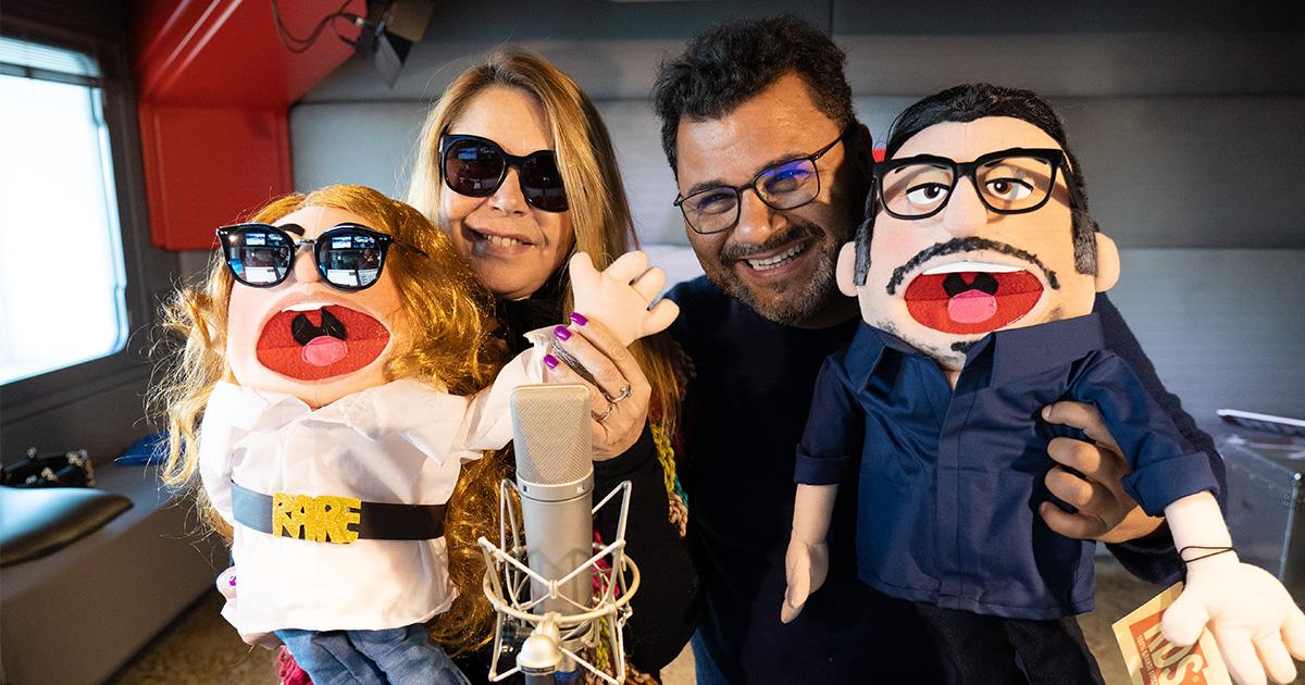 Anna e Sergio ricevono il loro Puppit in diretta