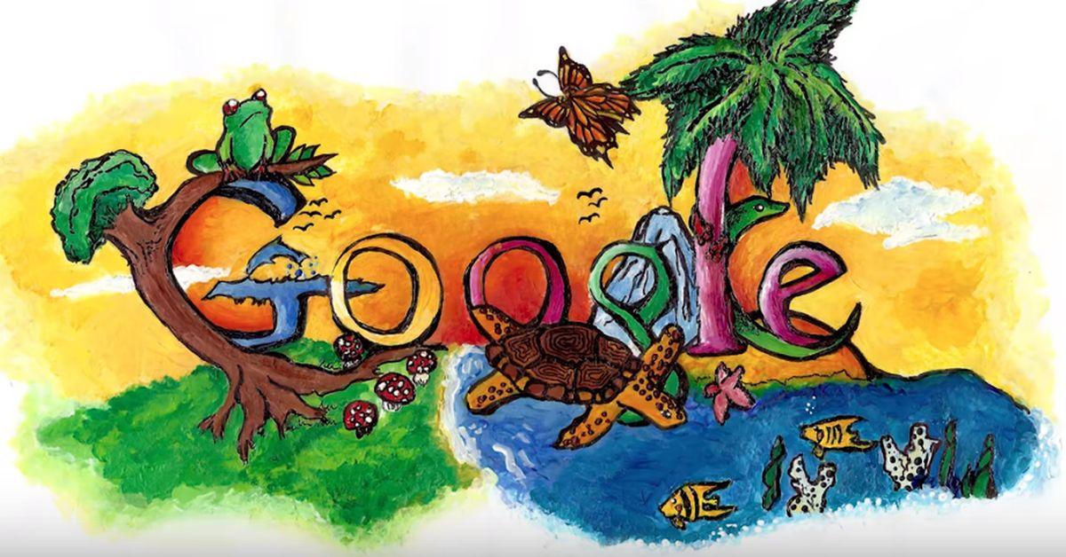 'Doodle 4 Google' il migliore è stato disegnato da una bimba di 6 anni