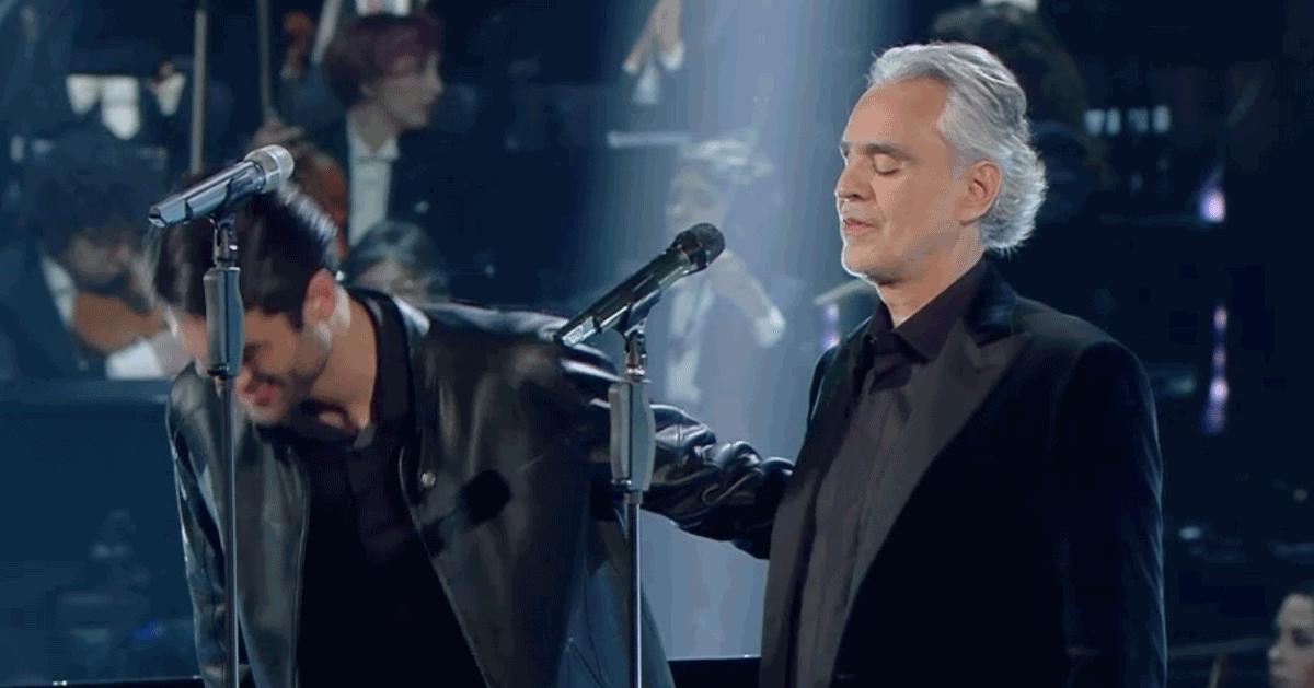 Sanremo 2019: Andrea Bocelli e il figlio Matteo si meritano la standing ovation