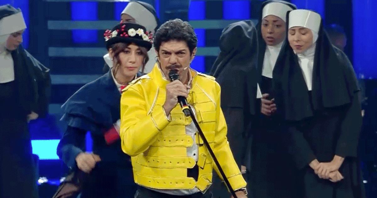 Sanremo 2019: Favino nei panni di Freddie Mercury ha fatto un figurone