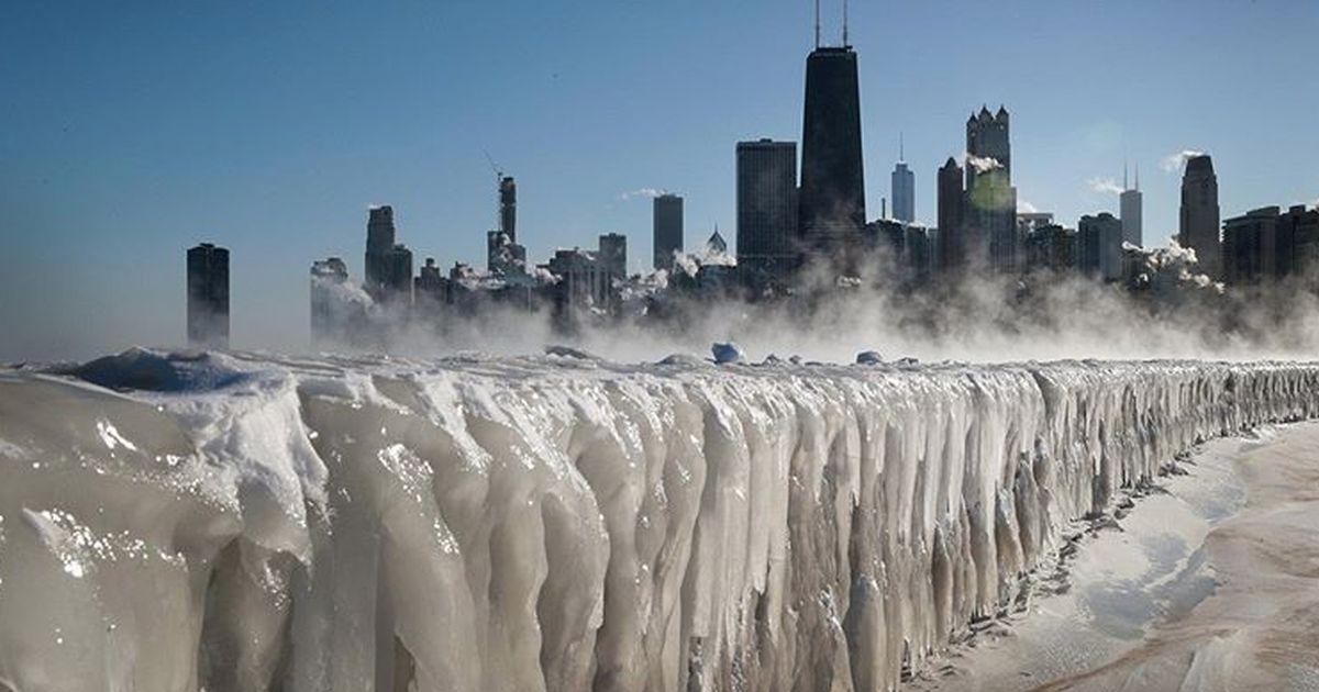 Le bellissime immagini di Chicago completamente ghiacciata