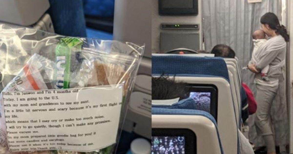 Mamma regala tappi in aereo: il suo bimbo di 4 mesi potrebbe piangere in volo