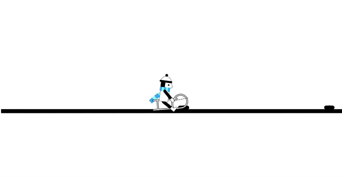 Una linea e uno slittino: la versione animata di 'Bohemian Rhapsody' dei Queen vi stupirà
