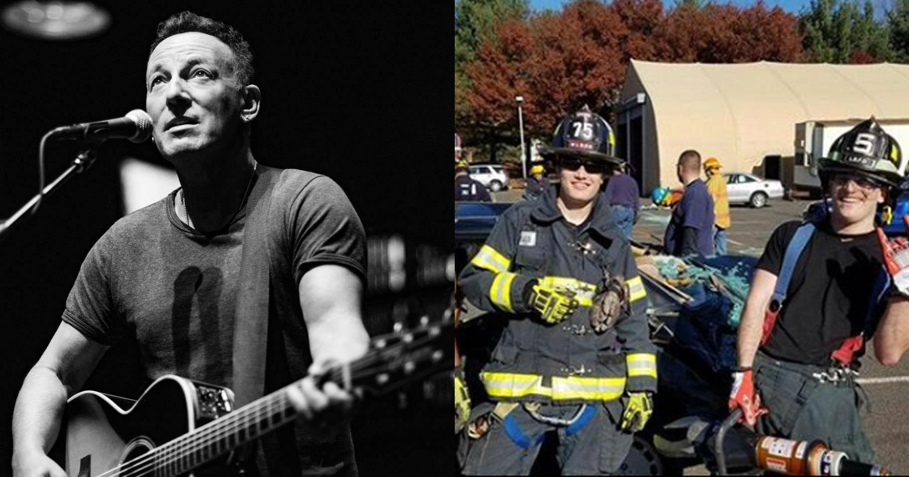 Altro che canzoni, il figlio di Bruce Springsteen vuole fare il pompiere