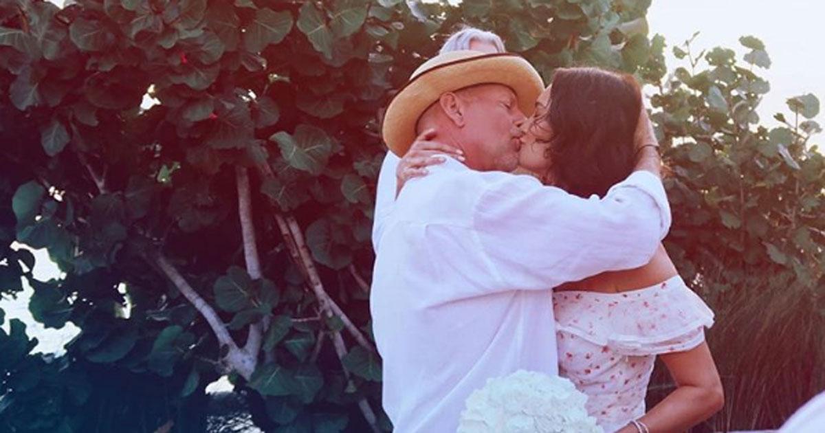 Al matrimonio di Bruce Willis c'era anche la sua ex Demi Moore