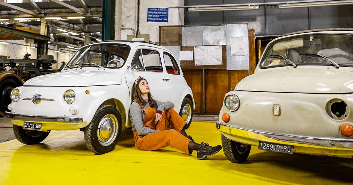 Il meccanico donna che restaura le Fiat 500