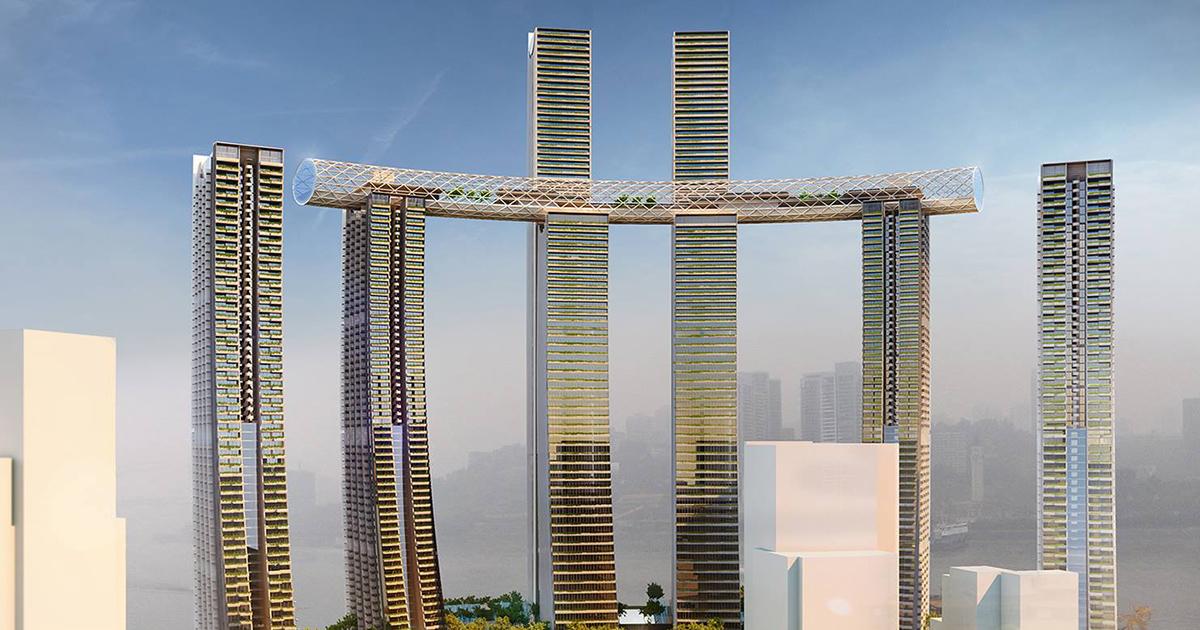 Cina: il grattacielo orizzontale più alto del mondo è uno spettacolo