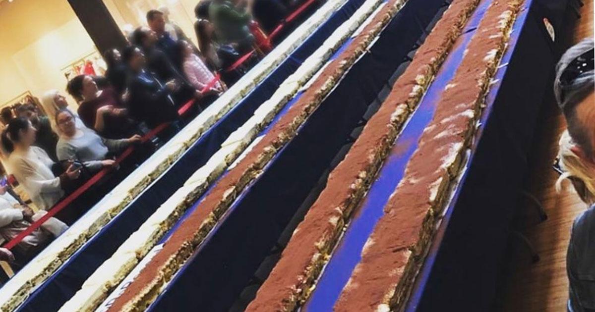 Nella giornata del Tiramisù Day da Milano arriva il tiramisù più lungo del mondo