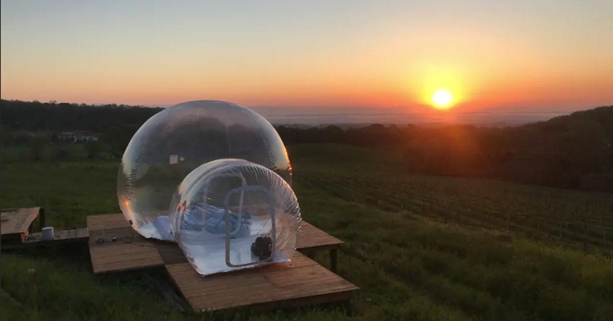 L'hotel bolla: ecco come dormire immersi nella campagna toscana