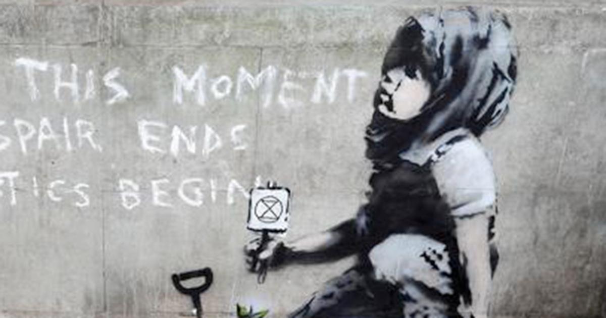 Spunta un murales per l'ambiente a Londra: è opera di Banksy?