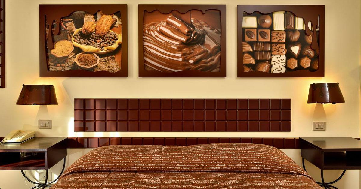 A Perugia c'è il primo hotel al mondo interamente dedicato al cioccolato