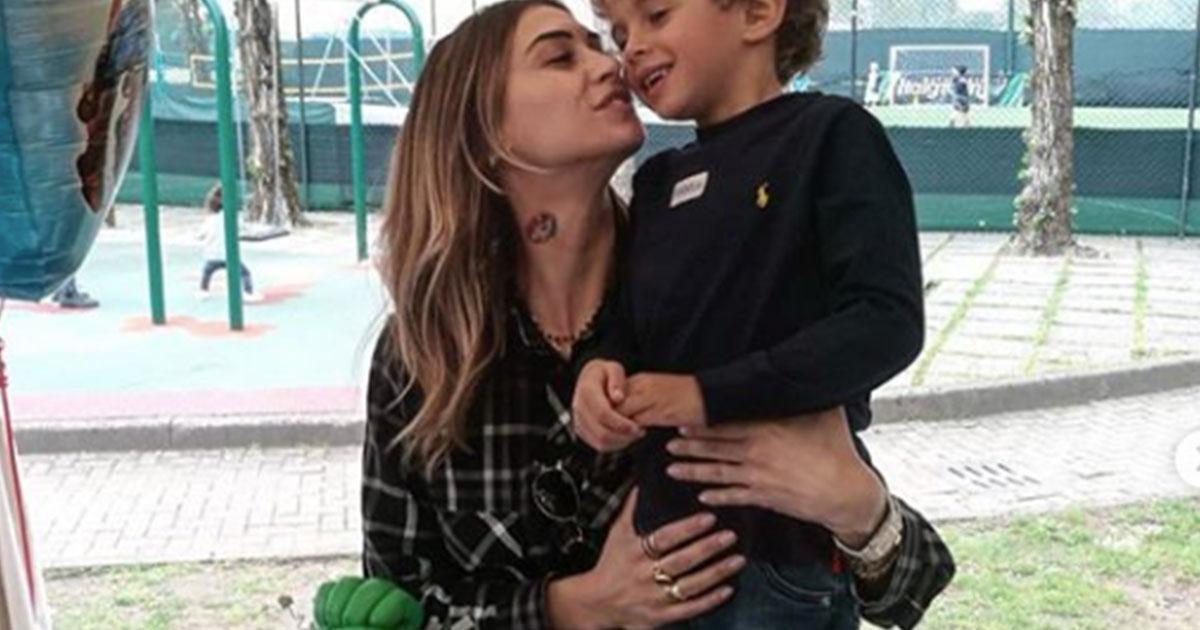 Melissa Satta, le foto della prima festa per Maddox da mamma single