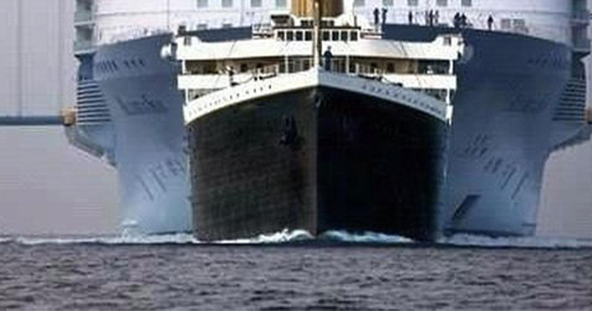 Come sarebbe il Titanic se venisse costruito oggi