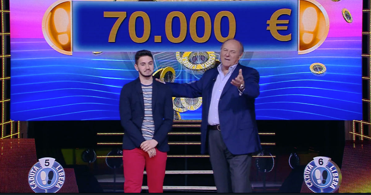 Record a 'Caduta Libera': il concorrente ha vinto 400.000 euro