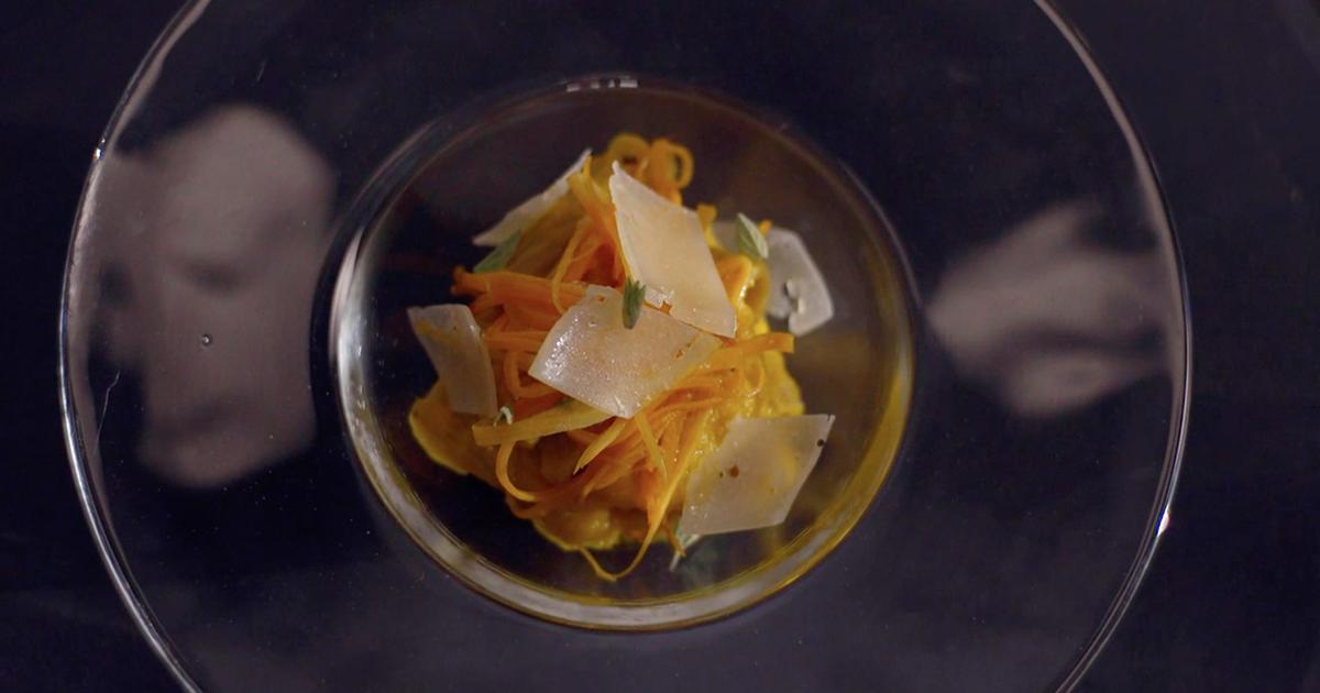 Tortiglione integrale con carote, zenzero e cannella - Alessandro Borghese Kitchen Sound