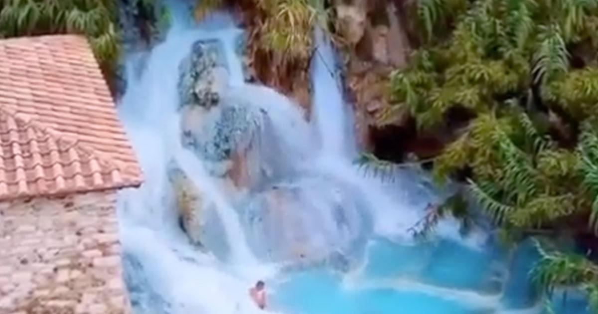 Il video delle Terme di Saturnia: cascate libere di acqua a 37 gradi