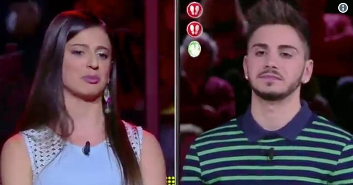 'Caduta libera': il campione Nicolò riceve una dedica d'amore da un'altra concorrente