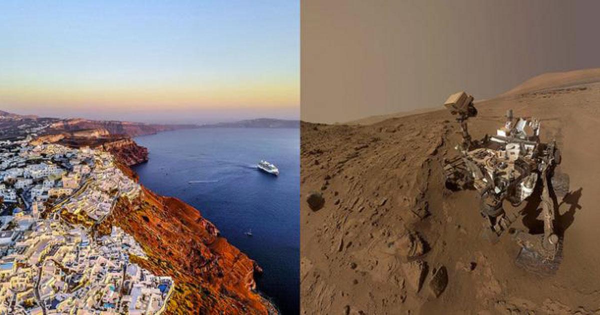 A Santorini sono state trovate delle rocce simili a quelle di Marte