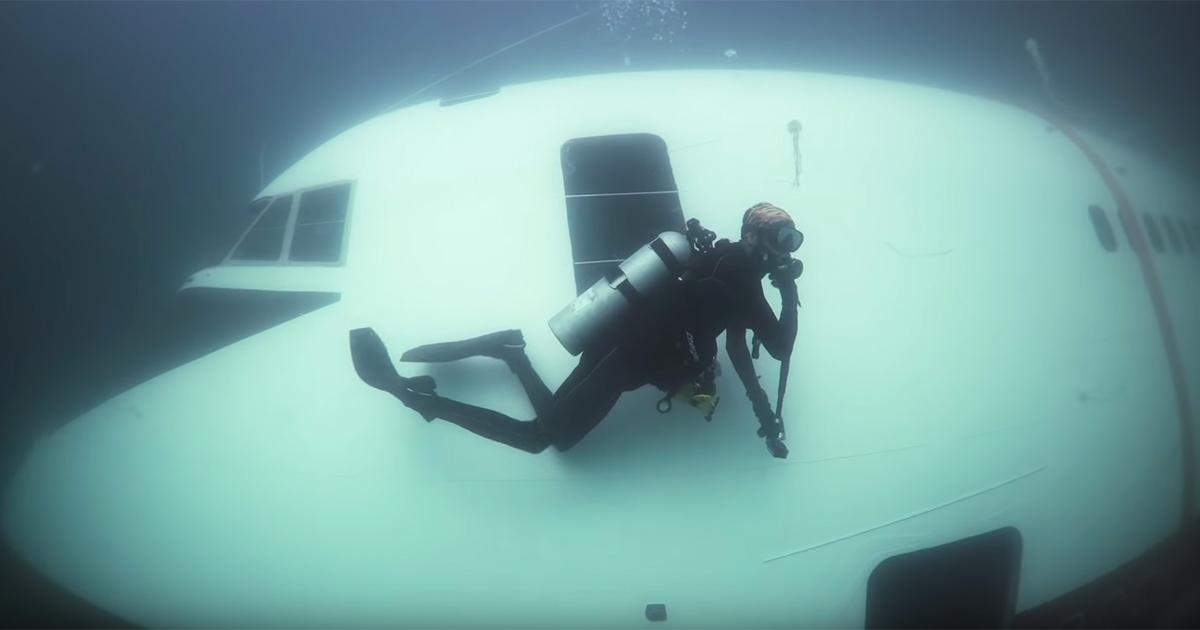 Un Boeing affondato diventerà un parco giochi nel Golfo Persico