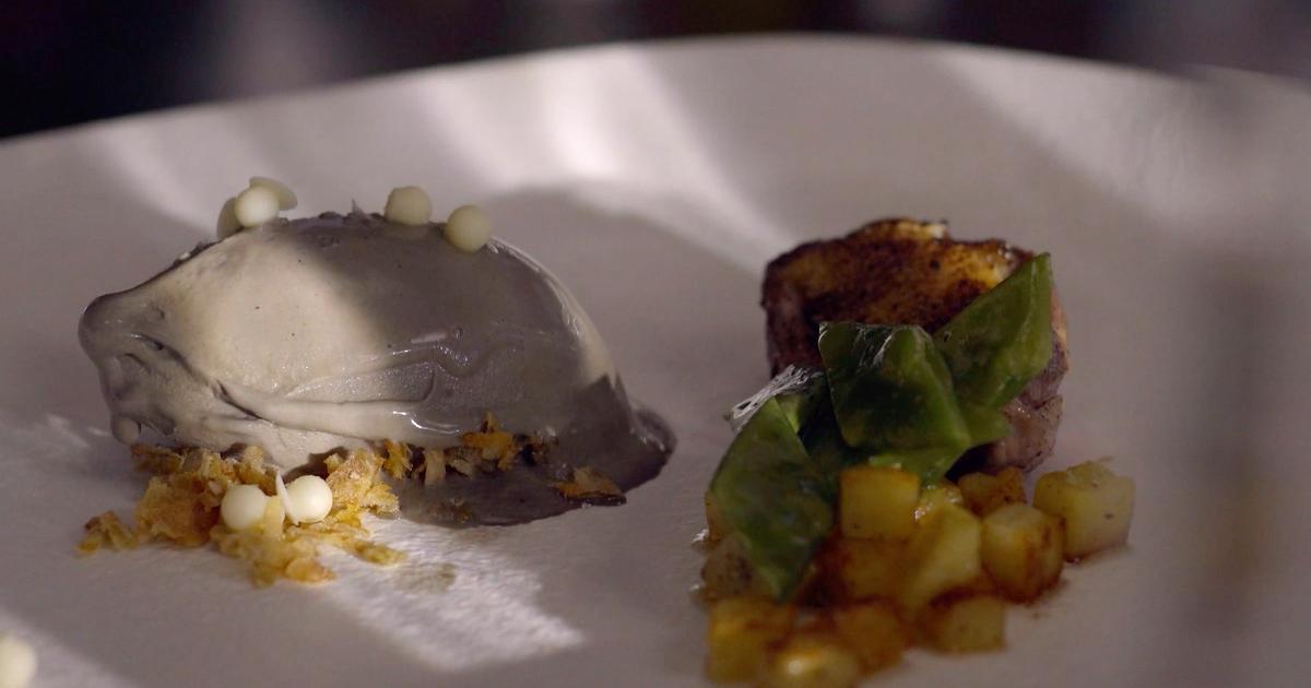 Petto di piccione con gelato black and white - Alessandro Borghese Kitchen Sound