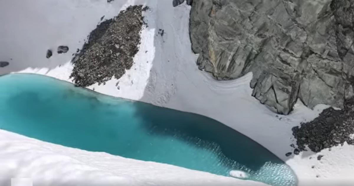 Scoperto un lago sul Monte Bianco: ma la foto è preoccupante