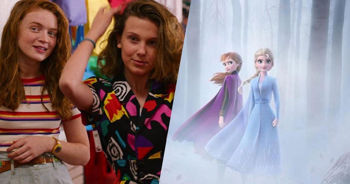 Undici e Max di Stranger Things 'diventano' Elsa e Anna di Frozen