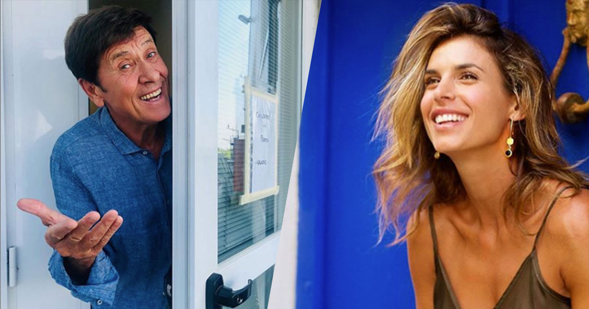 Gianni Morandi: la foto con Elisabetta Canalis è tutta da ridere