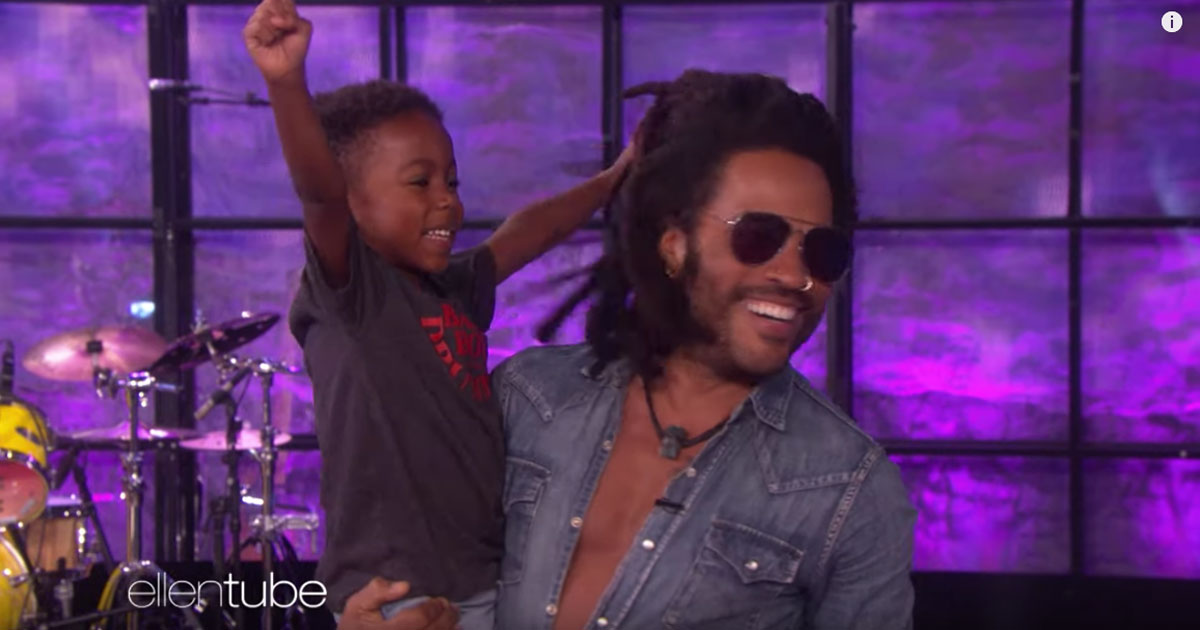 Lenny Kravitz fa una sorpresa ad un fan di cinque anni, la sua reazione vi stupirà